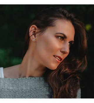 Sterling Natural Aquamarine Gemstone Earrings in Women's Stud Earrings