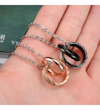 MoAndy Stainless Necklace Matching Lettering in Women's Pendants