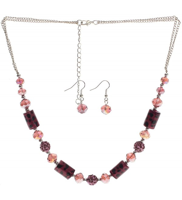 Lova Jewelry The Purple Panther Set Necklace and Earrings - CW11NI9QPLF
