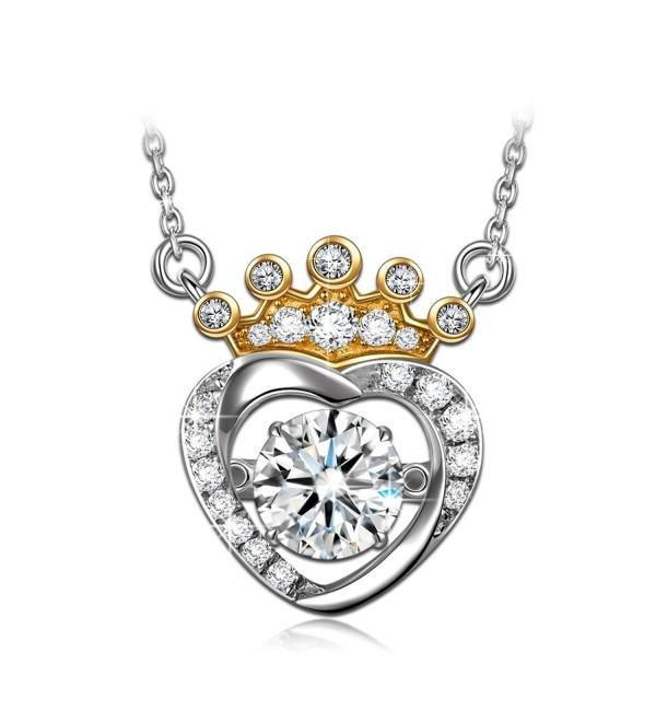 Princess Necklace Sterling Swarovski Birthday - CY184SC2H38