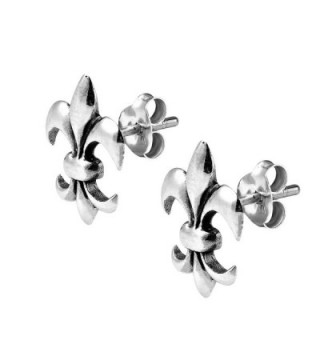 Charming Symmetrical Fleur Sterling Earrings