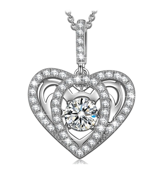 Sterling Necklaces Necklace Swarovski Zirconia - CC18C02X48D