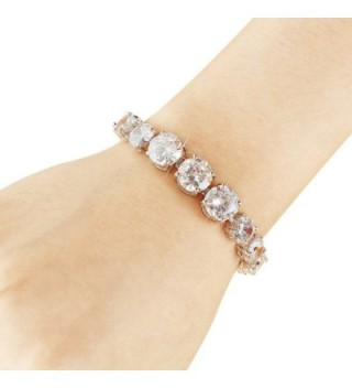 EVER FAITH Silver Tone Bridal Bracelet in Women's Tennis Bracelets