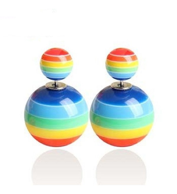 Rima Imar Rainbow Double Sided Earrings Fashion Jewelry - CO1254DJCQH