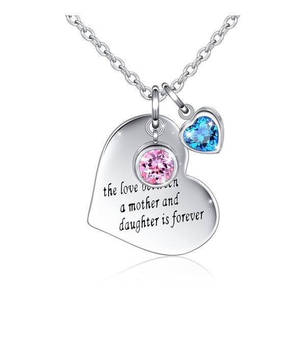 Sterling Message Engraved Daughter Necklace - CD189XOSQ8C