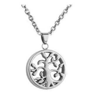 AMIST Hollow Tree of Life Cremation Jewelry Pendant Keepsake Memorial Urn Neckalce - CZ12MYNWRP0