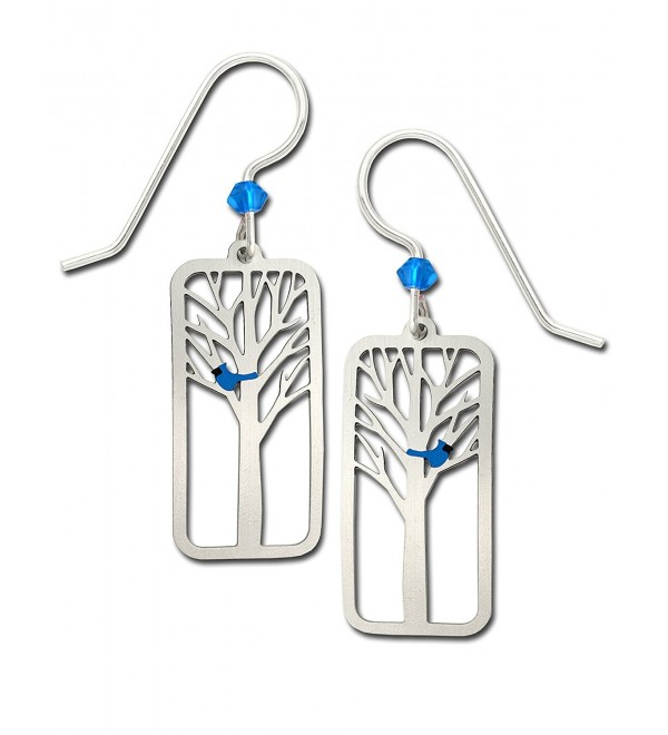 Sienna Sky Blue Bird in Tree Earrings with Gift Box Made in USA - CQ183MAL8K9