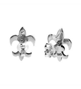 Charming Symmetrical Fleur Sterling Earrings in Women's Stud Earrings