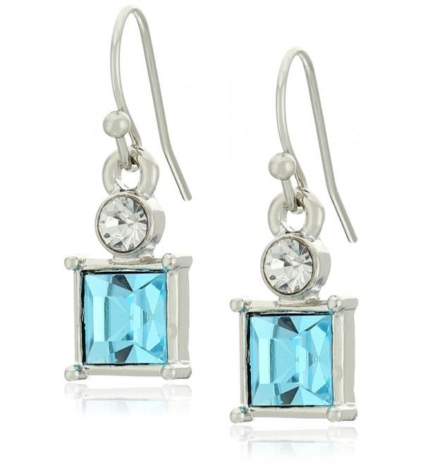 1928 Jewelry Square Drop Earrings - Blue - CH12DOP932P