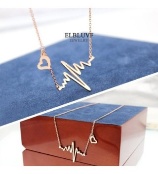 ELBLUVF Plated Stainless steel Cardiogram Necklace in Women's Pendants