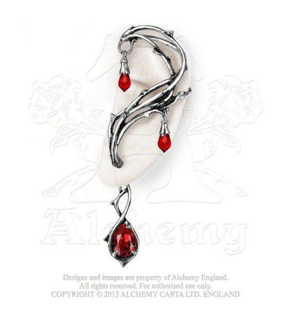 Red Passion Weeping Tears Full Ear Earring - C6118TP3SLN