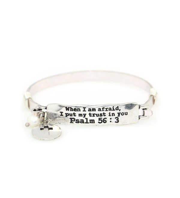 When afraid put trust Psalm - Silver Burnish - CF188Z820UU