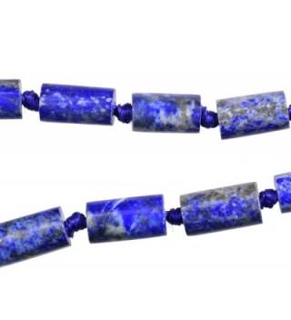 Lapis Lazuli Cylinder Necklace 18 Inch - CT182703HSL