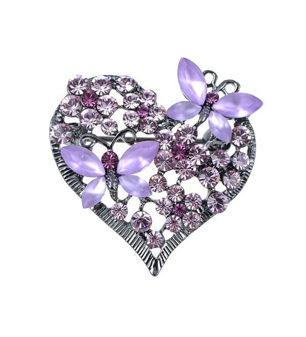 Alilang Butterfly Silvery Swarovski Rhinestones - Lavender - C4119LR47JZ