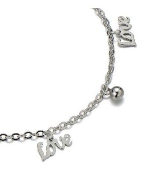 Stainless Anklet Bracelet Dangling Letters in Women's Anklets