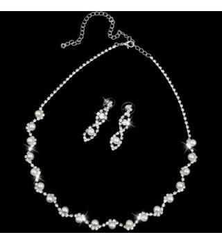 BESTOYARD Rhinestone Necklace Earrings Wedding in Women's Jewelry Sets