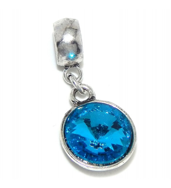 """Jewelry Monster Dangling """"Round Birthstone Crystals"""" Charm Bead for Snake Chain Charm Bracelet - C311VP6BZYF"""