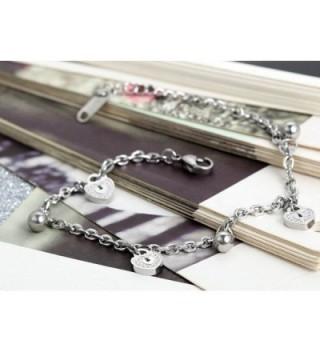 Flongo Ladies Simple Stainless Bracelet