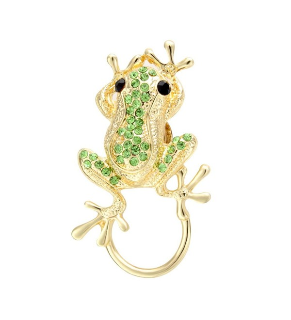 SENFAI 3 Colors Frog Magnetic Clip Holder Magnetic Eyeglass Holder Brooch Jewelry - CQ12B9707N9