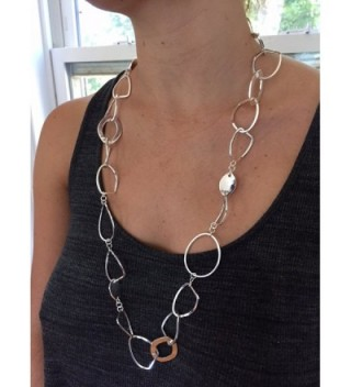 Sparkling Long Link Necklace Silver