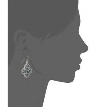 1928 Jewelry Silver Tone Filigree Earrings in Women's Drop & Dangle Earrings