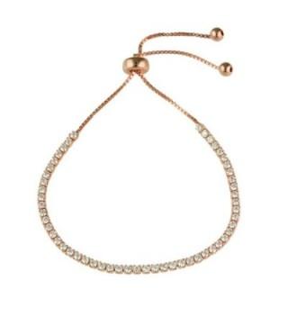 Adjustable Rose Gold Plated CZ Bracelet - CG12IF27UV3