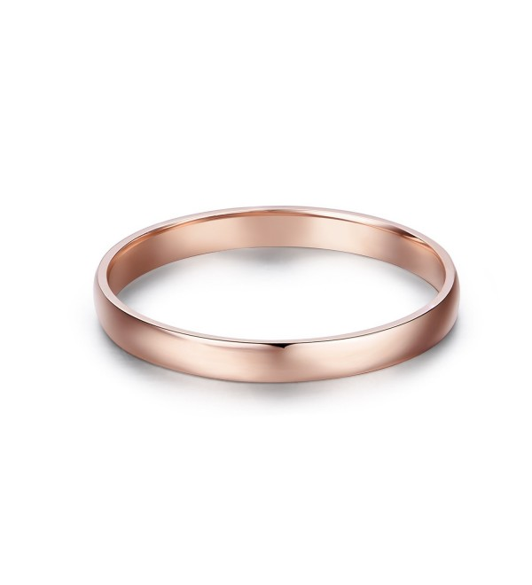 14k Gold 2mm Light Comfort Fit Classic Plain Wedding Band - rose-gold - CM185I2AM8M