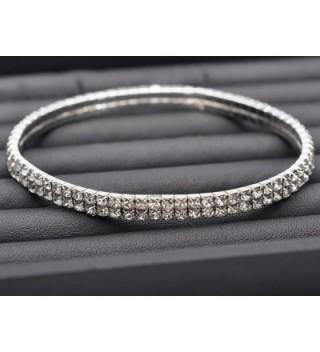 Imixlot Rhinestones Stretch Anklet Bracelet