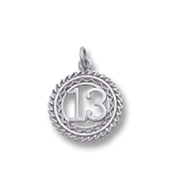Number 13 Charm- Charms for Bracelets and Necklaces - C511JW1XILX