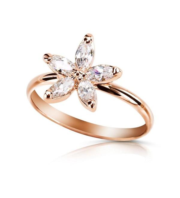 Bling Austrian Clear Crystal Flower Ring R269 - CS11HNBVGLN