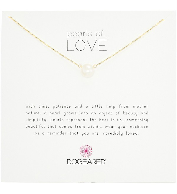 """Dogeared Pearls of Love 8mm Freshwater Pearl Necklace- 18"""" - white - C3114O28Y2N"""