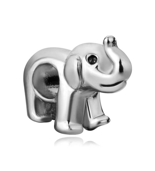 LovelyCharms Elephant Charm Animal Bead Fits Bracelets - CV12NH8W7VF