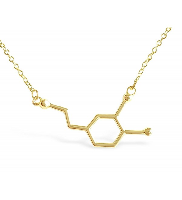 Rosa Vila Dopamine Molecule Necklace for a Good Start of the New Year - CS12BIIWL7J