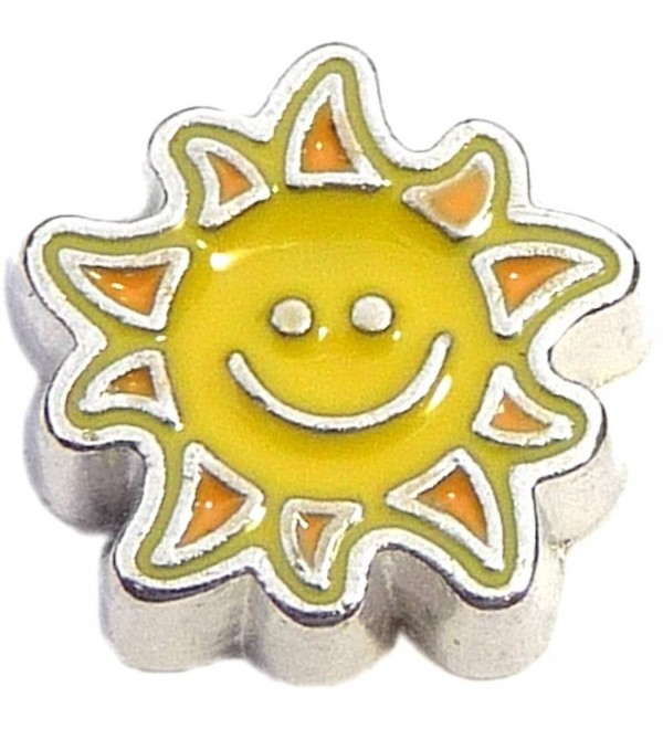 Sunshine Smile Floating Locket Charm - CW11HX572W1