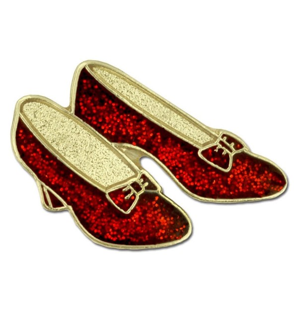 PinMart's Glitter Red Dance Shoes Enamel Lapel Pin - CV11T2U7K3V