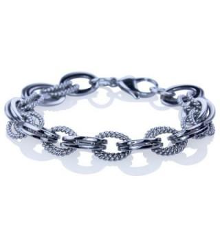 White Double Stainless Steel Bracelet