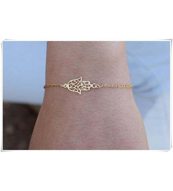 sea-maiden Sideways Hamsa bracelet-Hamsa bracelet-Gold hamsa bracelet- Filigree bracelet- protection jewelry - C312MOH4VPX