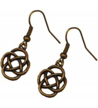 Earrings- Celtic Knot Antique Bronze Dangle Earrings + FREE GIFT BAG - C312GN1QSKH