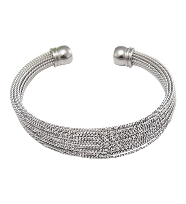 Stainless Steel Multi-bands Cuff Bracelet - C812DNI5XUJ