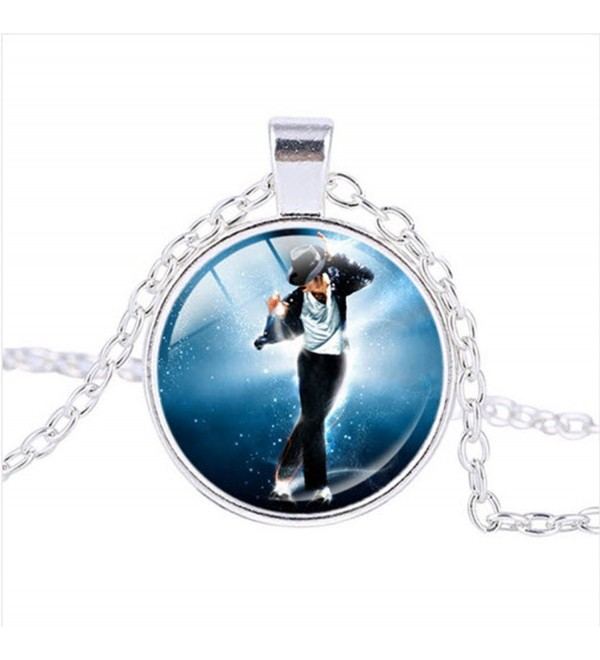 MICHAEL JACKSON - King Of Pop Bezel Pendant Necklace Silver Plated AMZN34 - CQ1209HBHUH