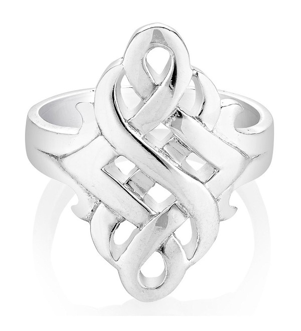 925 Sterling Silver Open Celtic Knots Symbol Band Ring Size 6- 7- 8 - Nickel Free - CE12ICT5ZH5