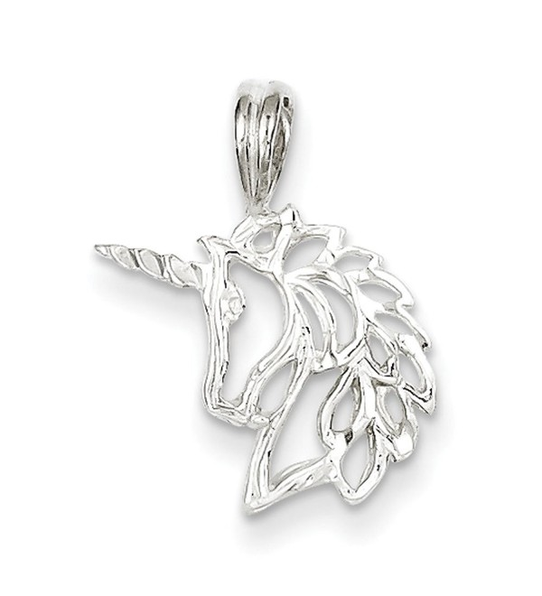 Sterling Silver Unicorn Head Charm - CF113PTMS55