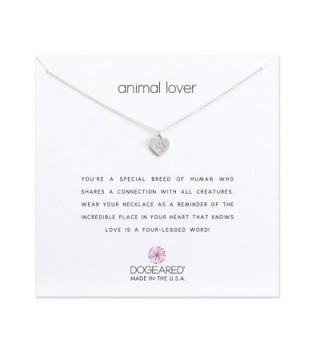 Dogeared - Animal Lover Necklace in Sterling Silver - CK17YDRCDTX