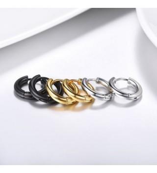 Earrings Earring Stainless Fashion 3PSE3010JGH in Women's Hoop Earrings