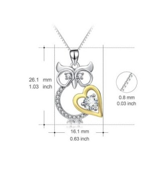 Angel caller Crystal Sterling Necklace in Women's Pendants