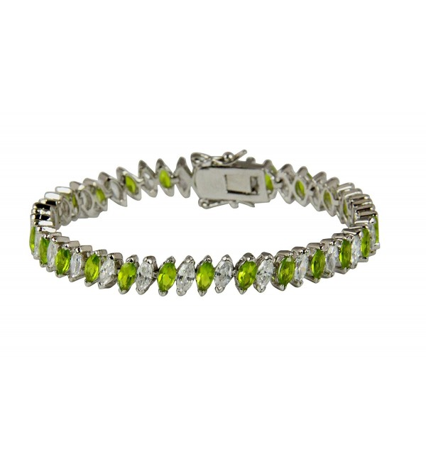 3030003 August Birth Month 8 Inch Tennis Bracelet Fashion Marquise CZ - CI12D61JVC9