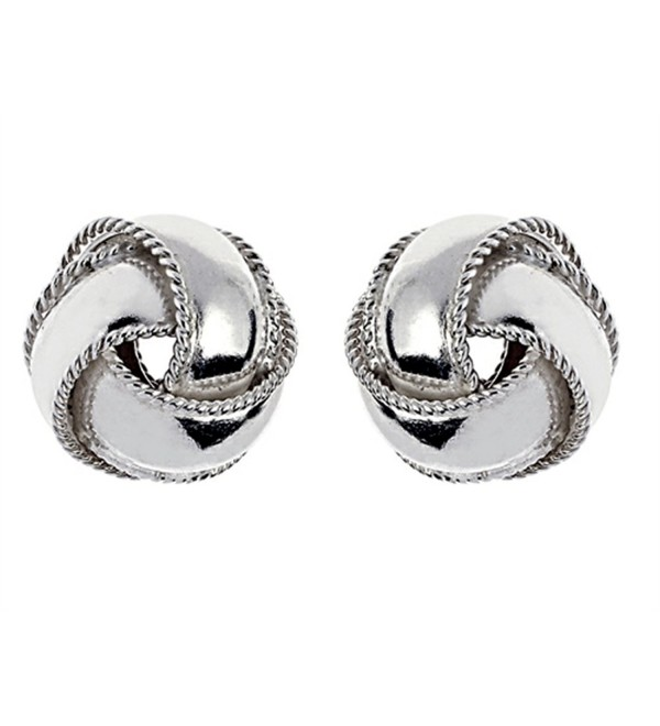 Finejewelers Sterling Silver Love Knot Earrings 12.5mm - C11143JZPVP