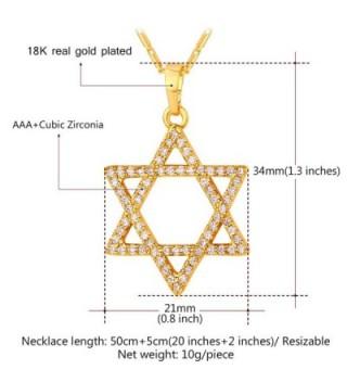 Jewish Jewelry Zirconia Pendant Necklace