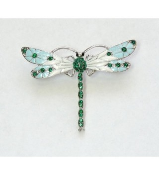 Faship Gorgeous Emerald Crystal Dragonfly
