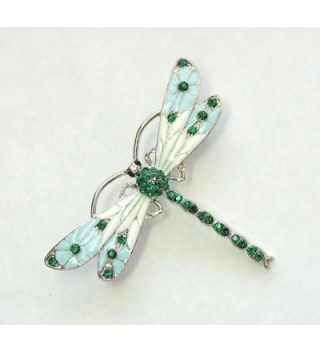 Faship Gorgeous Emerald Crystal Dragonfly in Women's Brooches & Pins